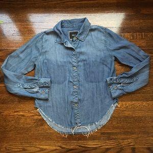Rails Cropped Button Down Shirt